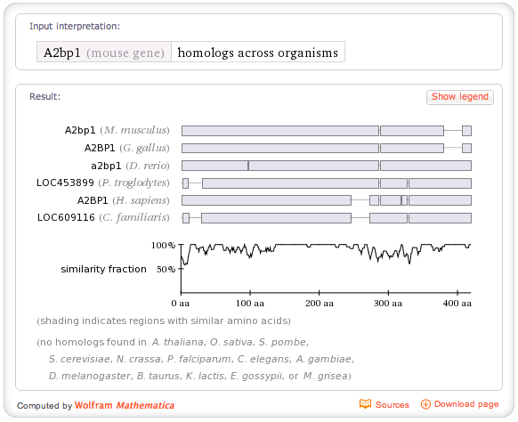 I spent several years building the genomics database and supporting search algorithms for Wolfram|Alpha.